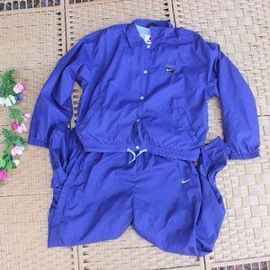 Vintage 90s Nike Purple Athletic Track/Sweat Suit